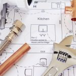 15554557 - plumbing components on house plans